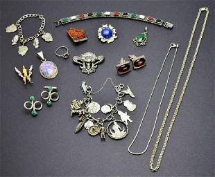 Miscellaneous Collection of Vintage Sterling Jewelry, C
