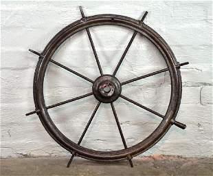 Original Antique Maritime Spoked Ships Wheel all Heavy
