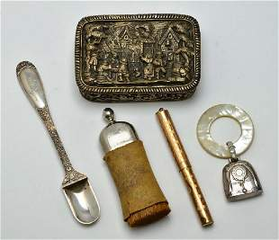 Collection of Miscellaneous Antique Trinkets Stieff Ste