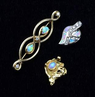 Collection of 14KT Yellow Gold Stuller Opal Diamond P