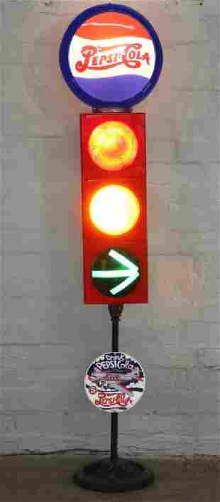 Durasig Reproduction Pepsi Cola Traffic Signal Three Li
