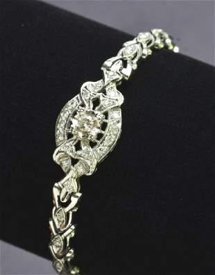 Beautiful Antique Style Ladies Diamond Filigree Bracele