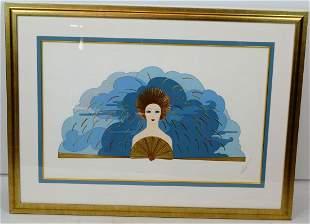 Listed Artist ERTE Signed Serigraph Storm