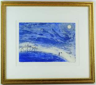 Listed Artist Betty MacDonald Signed Etching Print