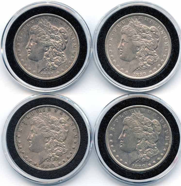 1: This is a Beautiful Set of 4 United States Morgan Si