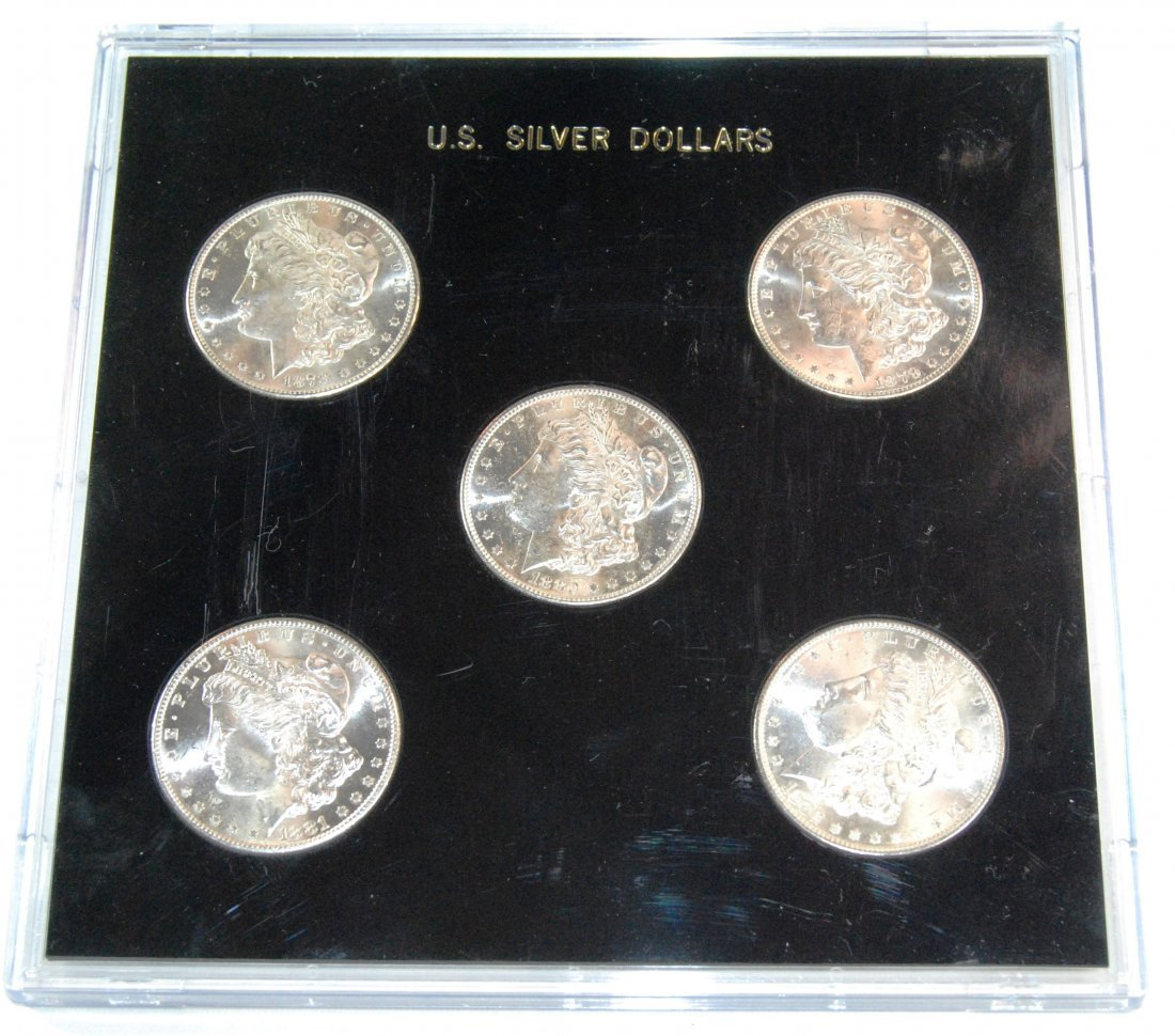 3: This is a Beautiful Set of 5 United States Morgan Si