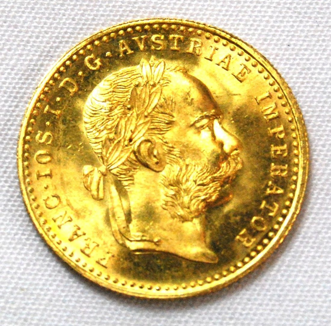21: Very Nice 1915 Austrian Ducat Gold Coin approximate