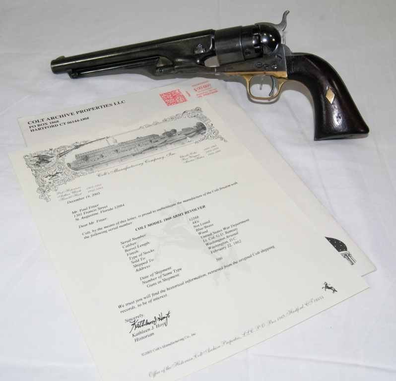 116: Exquisite RARE Colt Army Revlolver Model 1860 w/ P