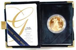 132: Beautiful 2006 American Eagle 1 Oz Gold Proof Coin