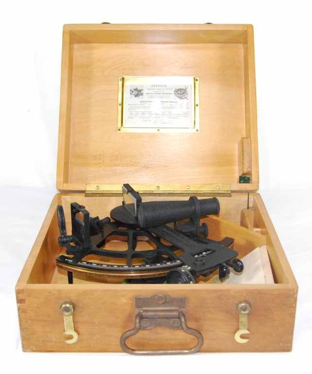 13: 1945 Sextant With Carrying Case