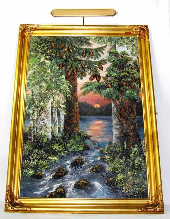 23: Original Oil on Canvas Painting by Listed Artist Ni