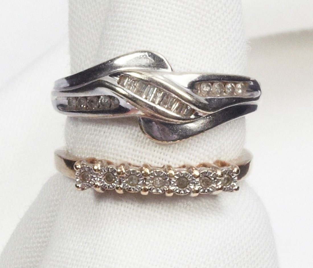 Pair of Gold & Diamond Rings Bands