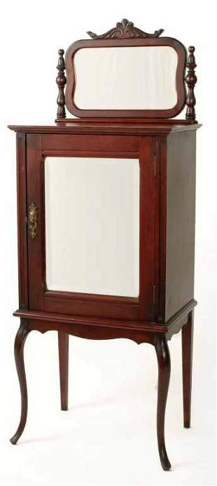 Antique Victorian Record / Sheet Music Cabinet