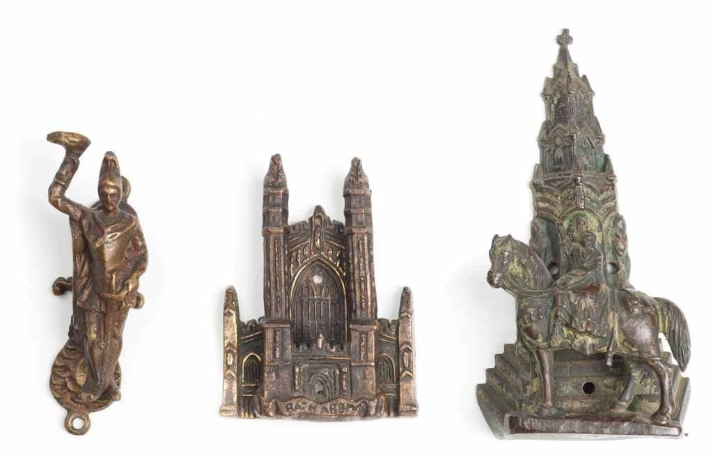 Collection of 3 Unusual Antique English Door Knockers