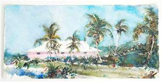 Listed Artist, Stephen Scott Young, Watercolor, Black