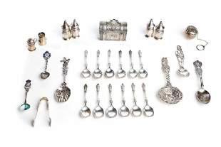 Collection of Sterling Silver Flatware, Salt & Pepper