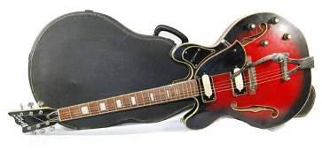 Vintage Univox Custom Japan Electric Guitar w/ Case