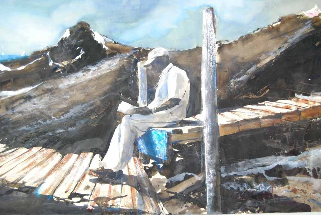 """Stephen Scott Young, """"Passing of Time"""" Watercolor"""