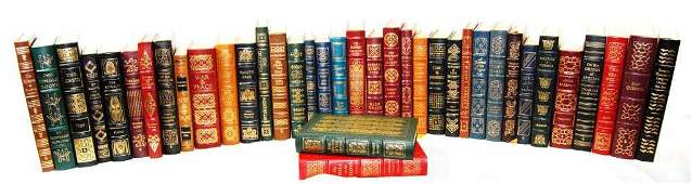 Collection of 38 Easton Press Leather Bound Books