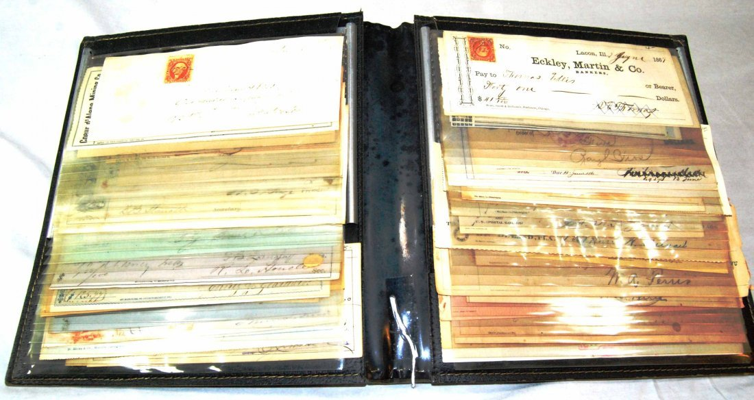 Collection of Approximately 60 US Bank Checks