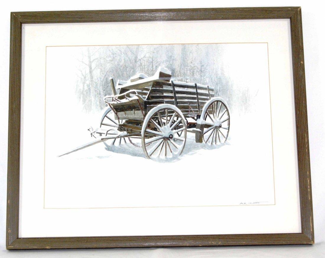 """Watercolor by Listed Artist, Jack Schmitt, """"Winter"""