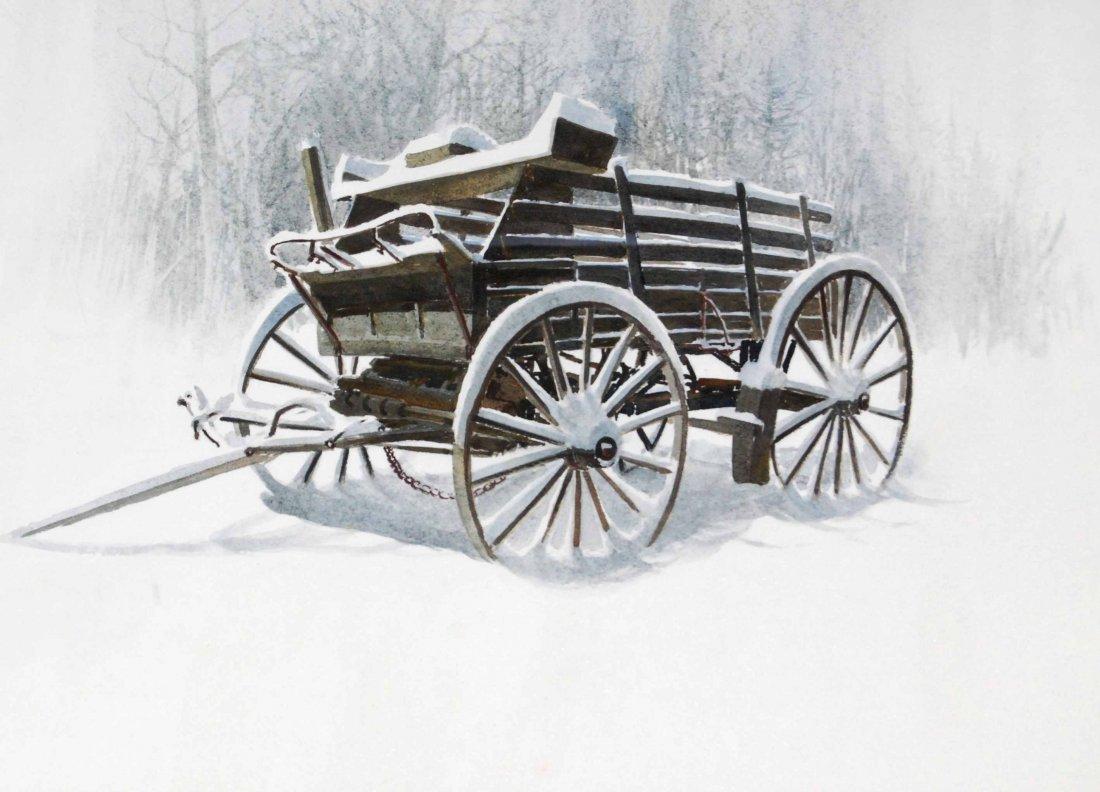"""Watercolor by Listed Artist, Jack Schmitt, """"Winter - 2"""