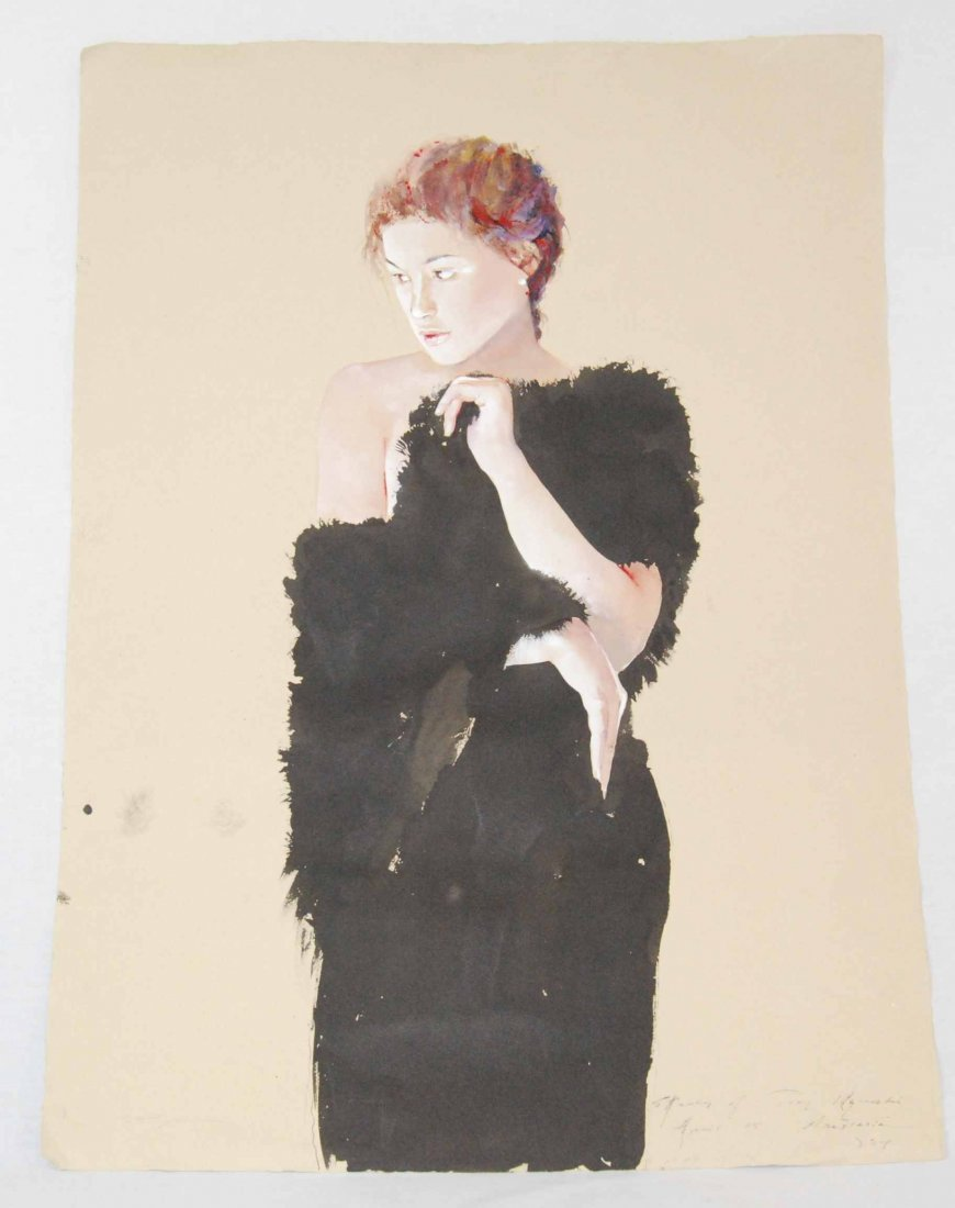 Listed Artist, Stephen Scott Young, Original Watercolor
