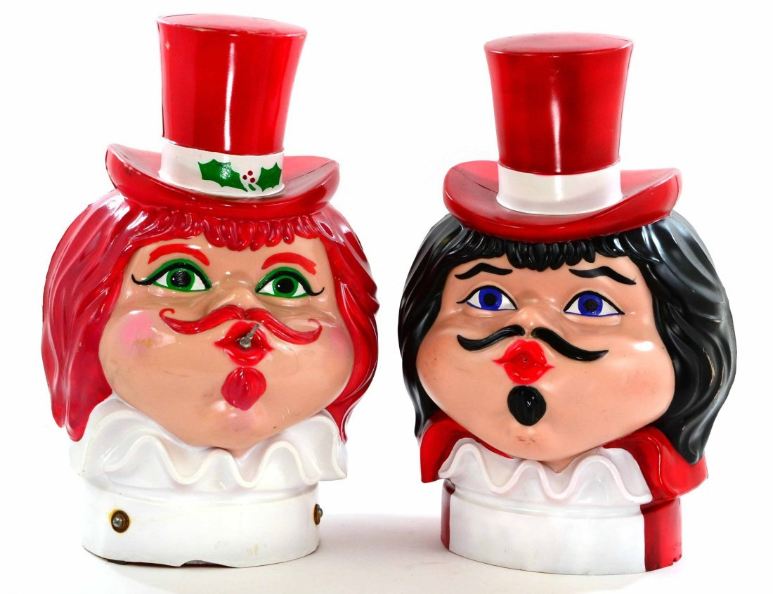 Pair of Creative Balloons Helium Tank Carnival Heads