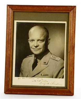 Dwight D Eisenhower Autographed Photo