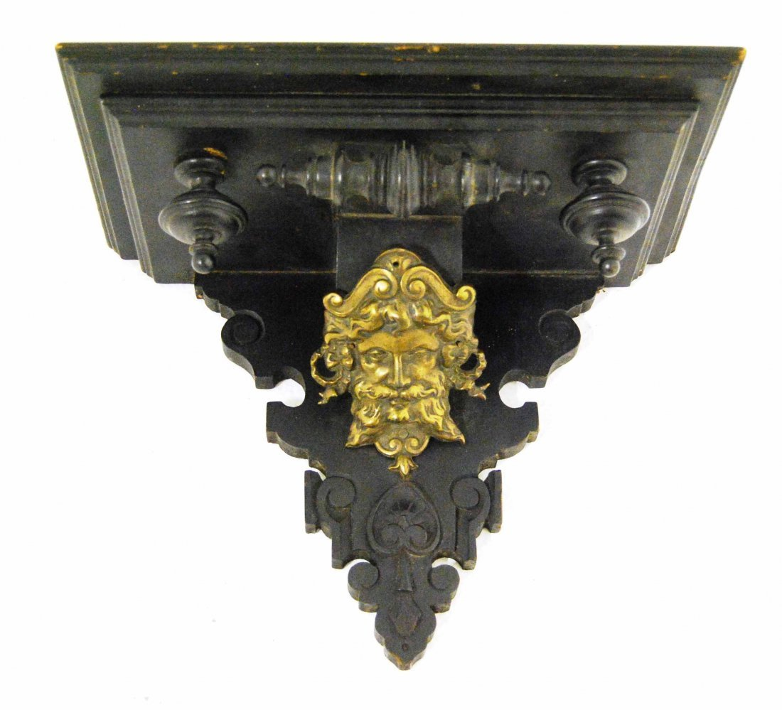 Hand Carved Figural Wall Shelf