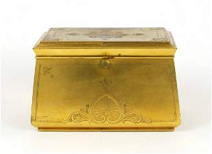 Gold Ormolu Art Deco Dresser Box, H. Rodrigues