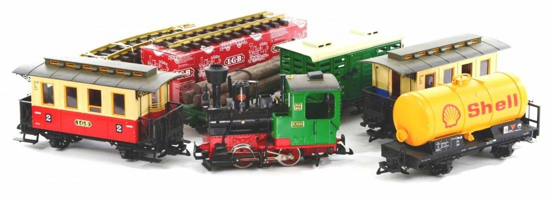 LGB Lehmann Toy Train Set, Engines, Track, Tankers
