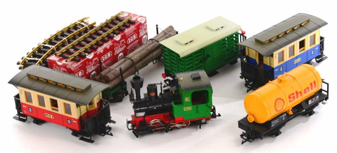 LGB Lehmann Toy Train Set, Engines, Track, Tankers - 3