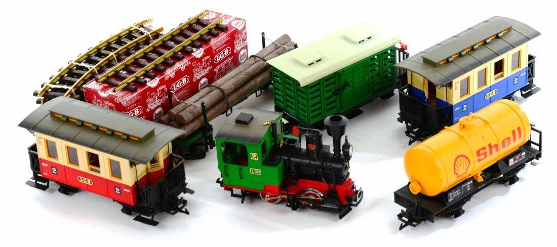 LGB Lehmann Toy Train Set, Engines, Track, Tankers - 4