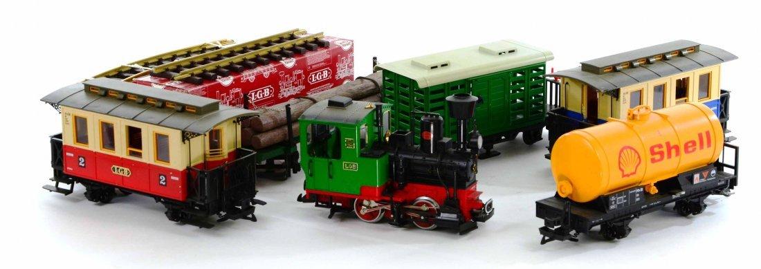 LGB Lehmann Toy Train Set, Engines, Track, Tankers - 5