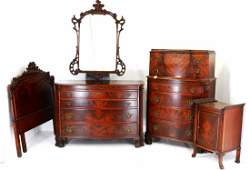 Chinese Chippendale Bedroom Suite