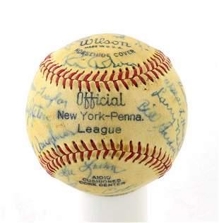 1968 Newark Co-Pilots PA League Autographed Baseball