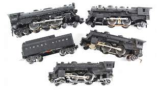 Lionel & Marx Collection of 4 Model Train Engines & Car