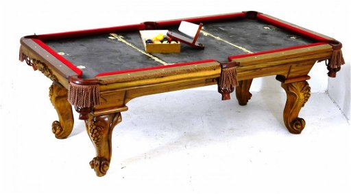 Vintage Peter Vitalie Claw Foot Slate Top Pool Table