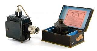 Antique Pair of Magic Lantern Slide Projectors