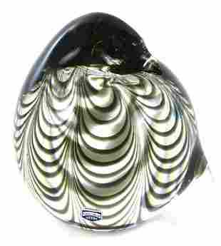 RARE Murano Cenedese Vetri Signed Art Glass Bird Figure