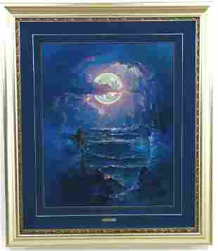 "John Pitre, Giclee on Canvas, of ""Moonlight Nude"""