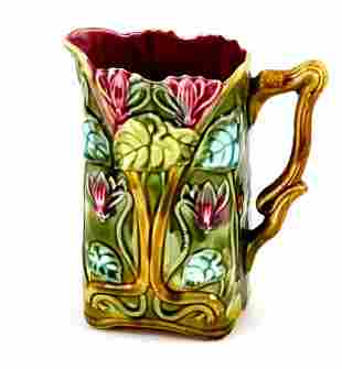 French Onnaing Majolica Pitcher