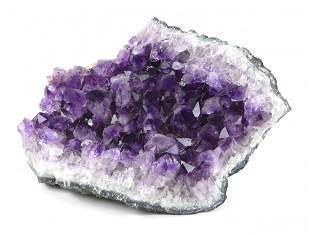 Large Amethyst Crystal Geode Stone Specimen, 12+ Pounds