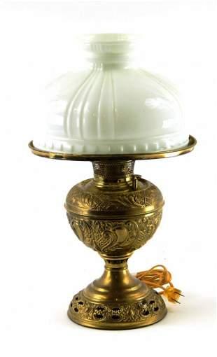 Antique Bradley & Hubbard Brass Victorian Lamp