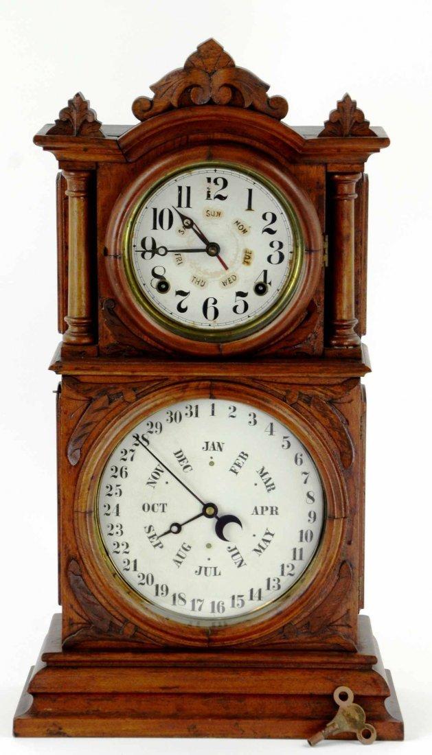 Antique BB Lewis Ingraham Double Faced Mantle Clock