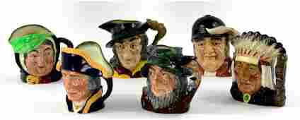 Collection of 6 Royal Doulton, England, Toby Mugs