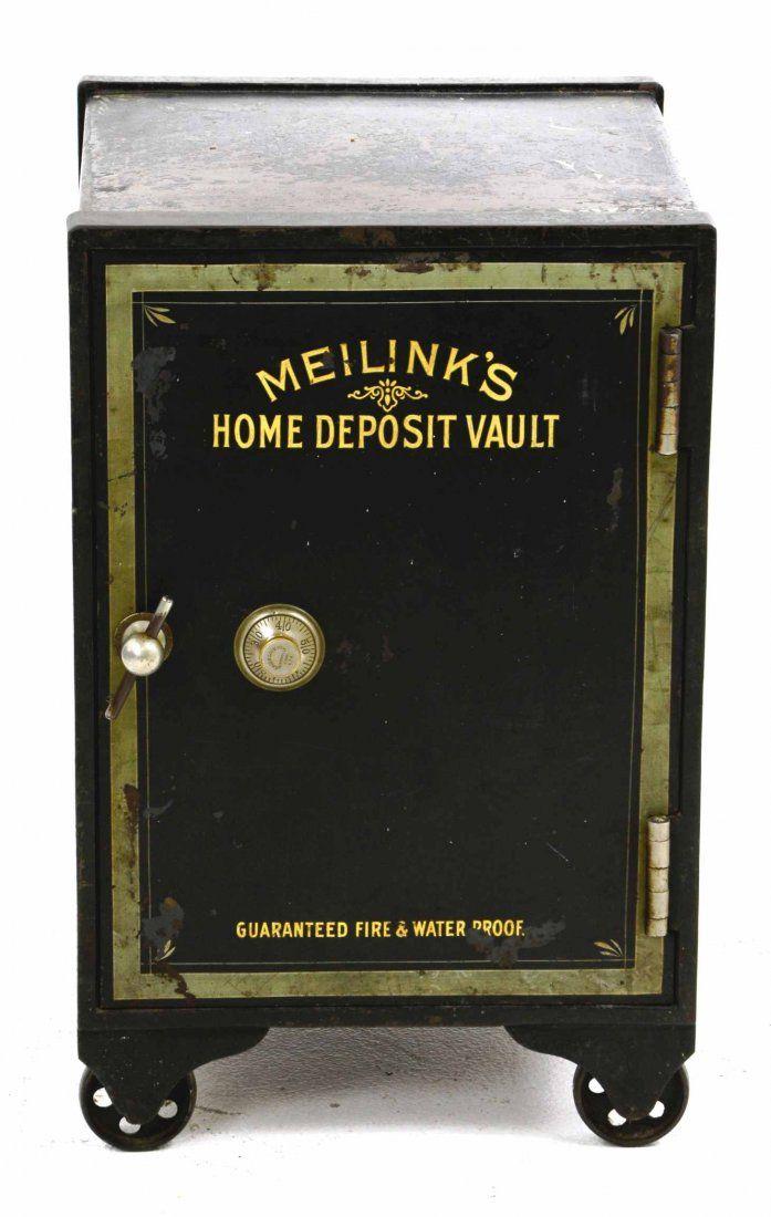 1903 Antique Meilinks Mfg. Co Home Deposit Safe