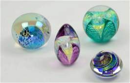 Collection of 4 Art Glass Paperweights