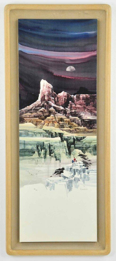 Original Watercolor on Board by  Michael Atkinson